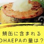 鯖缶に含まれるDHAEPAの量ってどれくらい?DHAEPAが多い缶詰ってどれ?